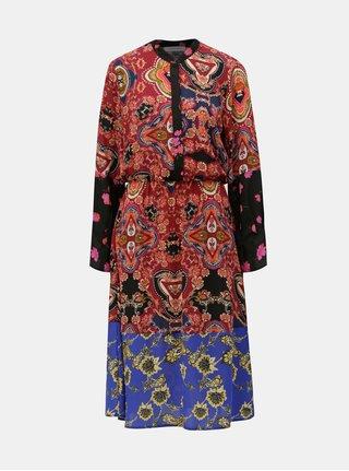 12eb746bbab Modro-vínové vzorované šaty ONLY Talia