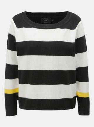 Bielo–čierny pruhovaný sveter ONLY Mette