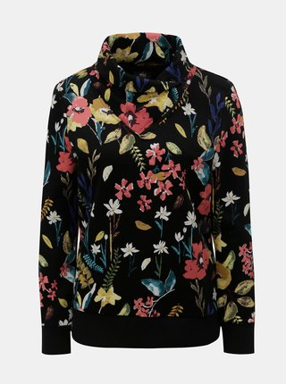 Černá dámská květovaná mikina ONLY Kamilla 8c37c5e868