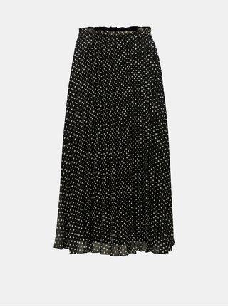3d67a3a8157 Bílo-černá puntíkovaná plisovaná midi sukně ONLY Paige
