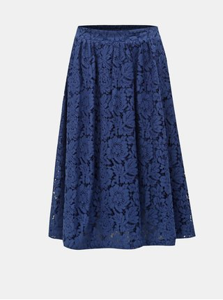 cc407db13de9 Tmavomodrá čipkovaná sukňa ONLY Skylar