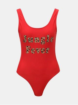 Červené jednodielne plavky VERO MODA Lea