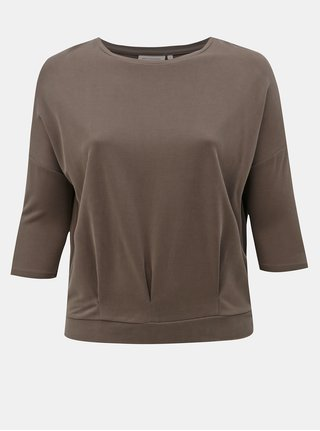 Kaki tričko s 3/4 rukávom ONLY CARMACOMA Fenya