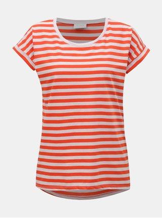 de6f75d7a3b Růžovo-červené pruhované basic tričko VILA Dreamers