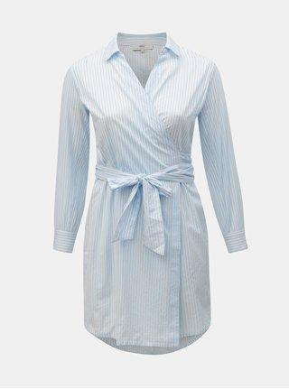 Bielo–modré košeľové zavinovacie šaty ONLY CARMACOMA Rosel