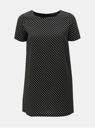Bielo–čierne bodkované šaty ONLY CARMACOMA Lux Cecilia