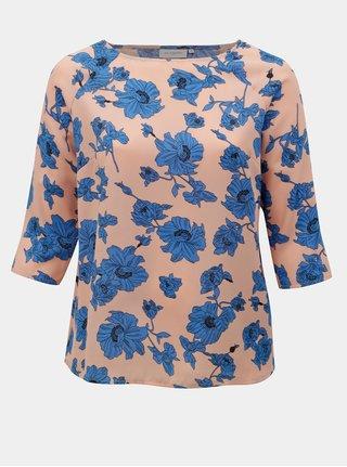 Bluza albastru-roz florala ONLY CARMACOMA Sympha