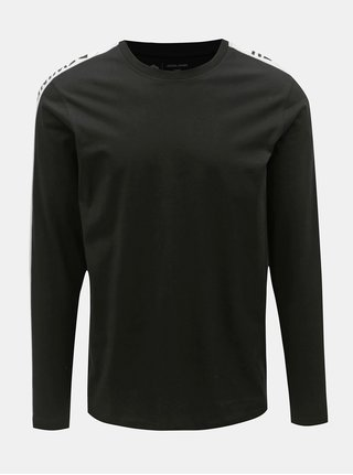 Bílo-černé slim tričko Jack & Jones Rock