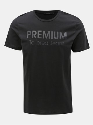 Černé slim fit tričko s potiskem Jack & Jones Logo