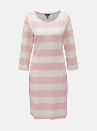 Bielo–ružové pruhované šaty GANT