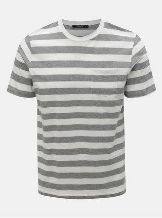 Šedo-bílé pruhované slim fit tričko Jack   Jones Normann 75ba970371