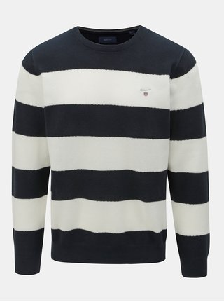 Bielo–modrý pánsky pruhovaný sveter GANT