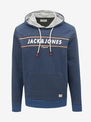 Hanorac albastru inchis melanj Jack & Jones Tuco