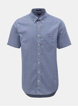 Bílo-modrá kostkovaná regular fit košile GANT