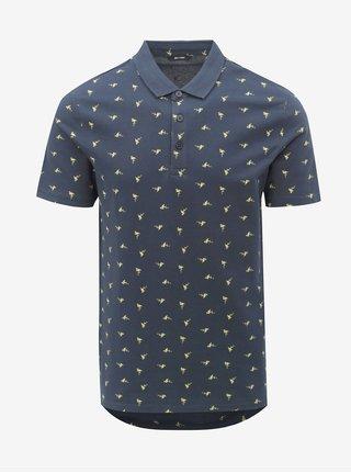 Tmavě modré polo tričko s potiskem ONLY   SONS Flamingo e6e8facf36