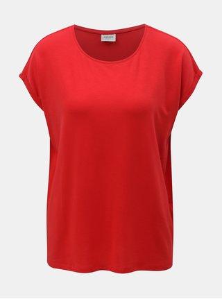 Červené voľné basic tričko VERO MODA AWARE Mava