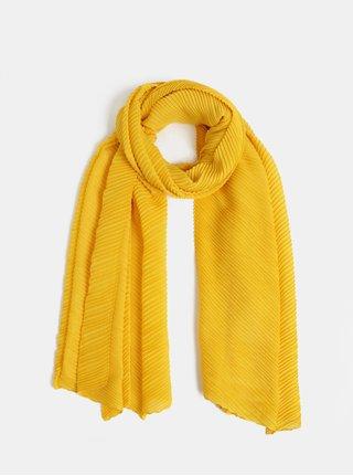 Žltá plisovaná šatka Pieces Lamilla