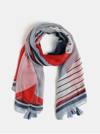 fb1622d3e1a Červeno-modrý vzorovaný šátek Pieces Bolivia
