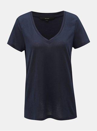 Tmavomodré basic tričko VERO MODA Spicy