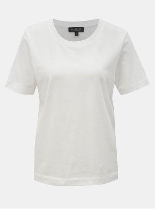 Tricou basic alb Selected Femme Standard