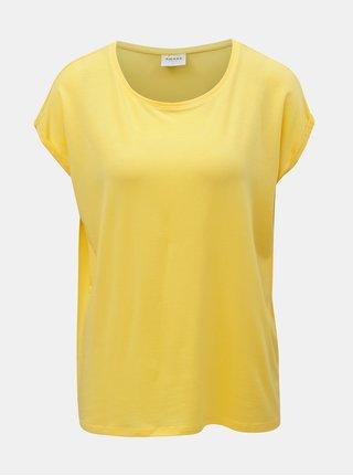 Žlté voľné basic tričko VERO MODA AWARE Mava