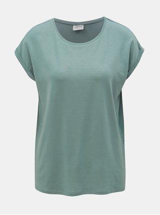 Modré volné basic tričko VERO MODA AWARE Mava