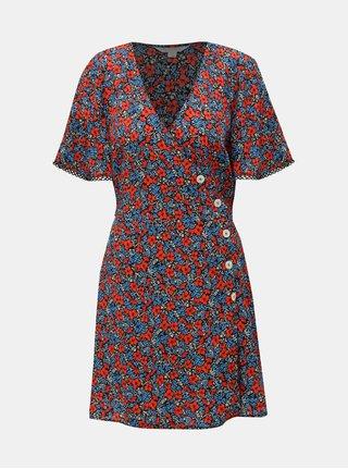 Rochie albastru-rosu florala Miss Selfridge