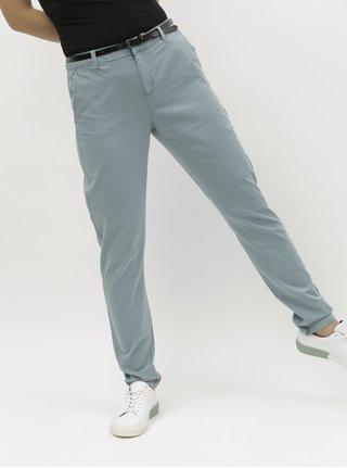 Světle modré chino kalhoy s páskem VERO MODA Flash