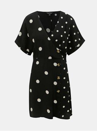 Rochie alb-negru cu buline Miss Selfridge