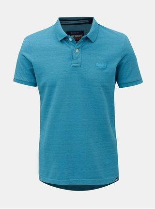 Modré pánské žíhané polo tričko Superdry 490ba85afa
