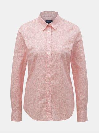 Růžová dámská květovaná košile GANT