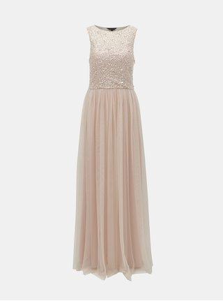 Světle růžové šaty s flitry Dorothy Perkins