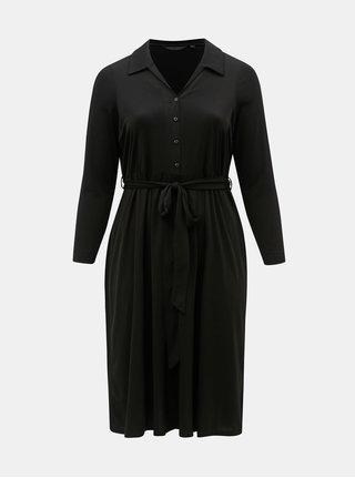 Čierne košeľové midišaty Dorothy Perkins Curve