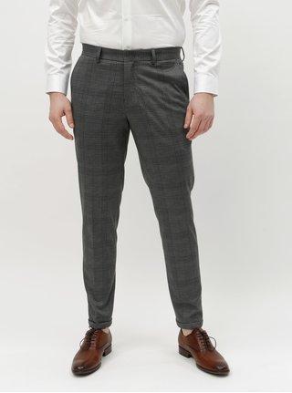 Sivé kockované skinny nohavice Selected Homme Jersey