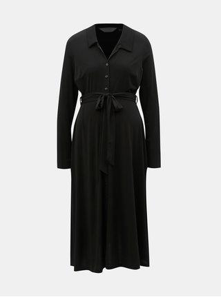 Čierne tehotenské košeľové šaty Dorothy Perkins Maternity