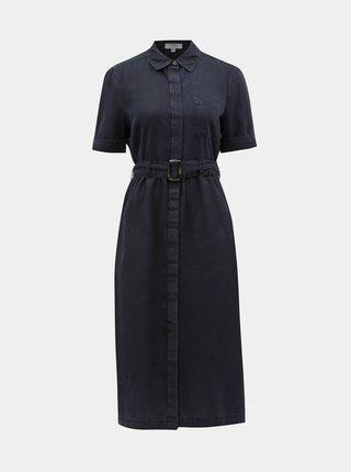 Tmavě modré košilové midišaty Dorothy Perkins