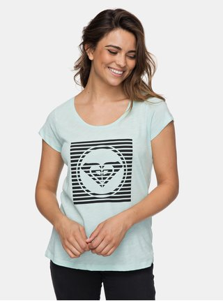 Mentolové dámske tričko s logom Roxy Bobby