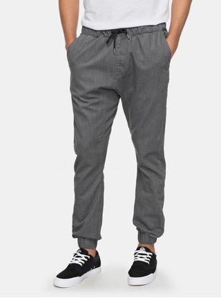 Sivé pánske nohavice s gumou v páse Quiksilver