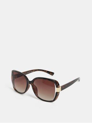 Hnedé slnečné okuliare s gepardím vzorom Dorothy Perkins