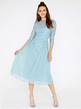 Svetlomodré čipkované šaty Little Mistress