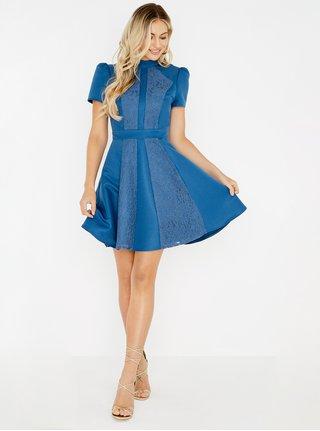 modrá. Modré šaty s čipkou Little Mistress c45a59f57ca