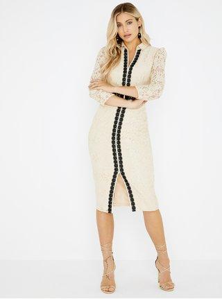 Béžové čipkované šaty Little Mistress c91a351252b
