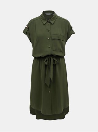 Rochie tip camasa verde inchis Dorothy Perkins Tall