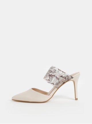 Sandale crem cu motiv sarpe Dorothy Perkins