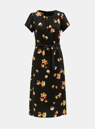 Černé květované šaty Dorothy Perkins 25e26173564