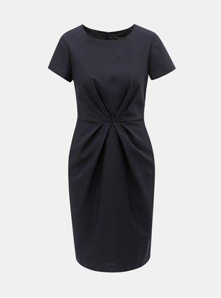 Tmavomodré šaty s riasením Dorothy Perkins