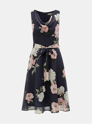 Tmavě modré květované šaty Billie & Blossom