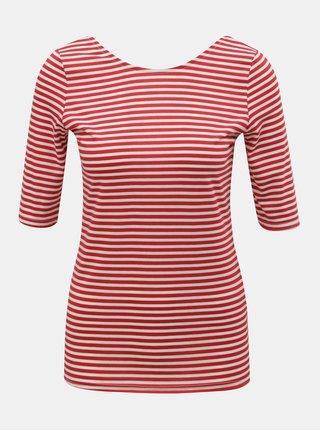 Bílo-červené pruhované tričko Dorothy Perkins