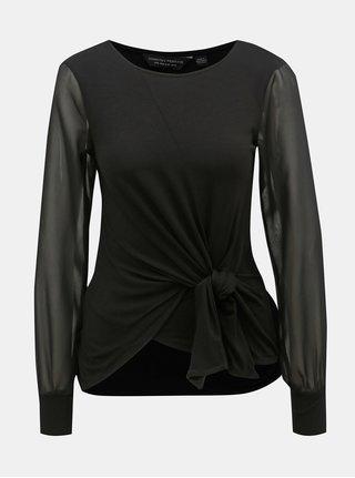 Bluza neagra cu nod Dorothy Perkins