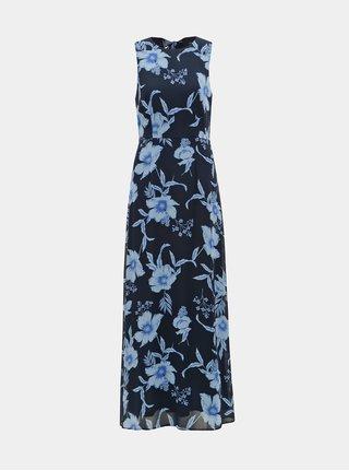 Tmavomodré kvetované maxišaty Dorothy Perkins